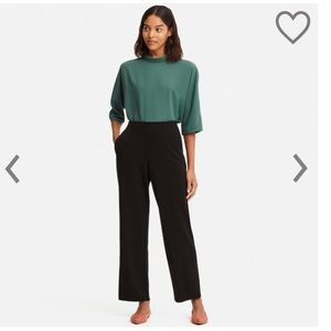 Uniqlo ponte high waisted straight leg trousers